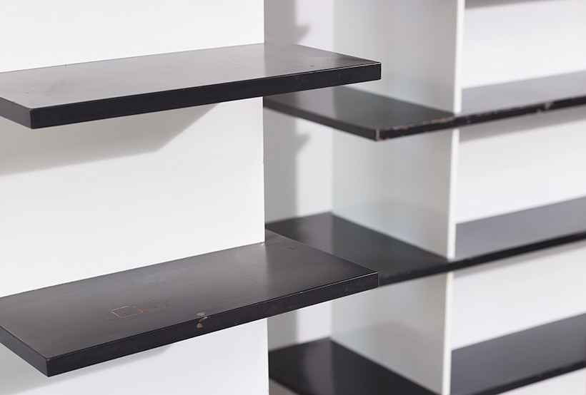 Wim Rietveld pair bookcases shelving units room divider for De Bijenkorf img 5