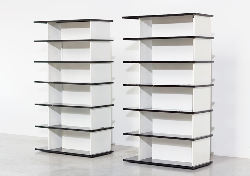 Wim Rietveld pair bookcases shelving units room divider for De Bijenkorf img 7