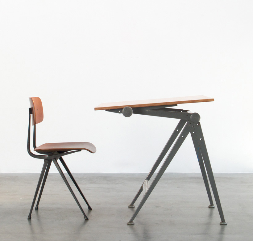 Wim Rietveld Reply drafting table and Friso Kramer Result chair
