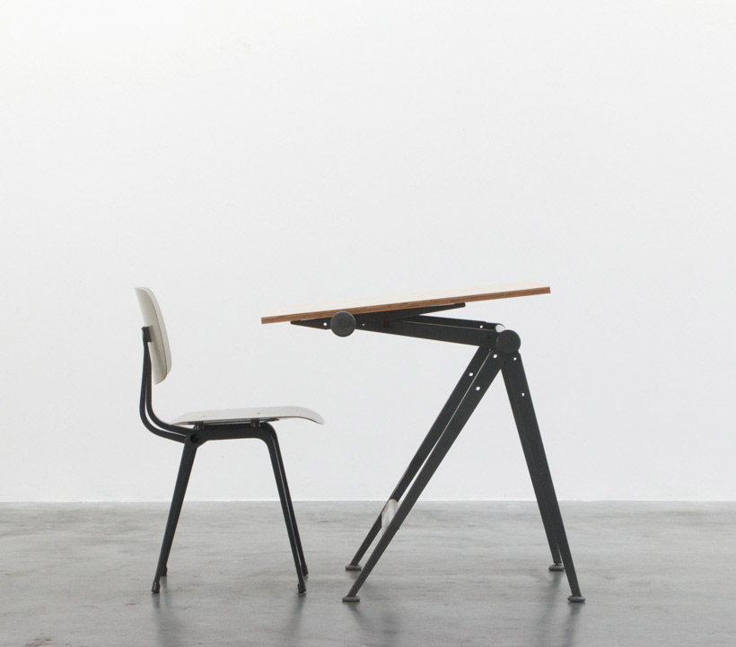 Wim Rietveld Reply drafting table and Friso Kramer Revolt chair