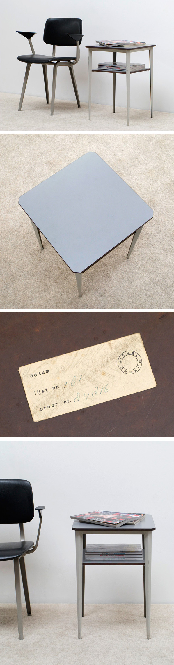 Wim Rietveld side table de cirkel ahrend Large