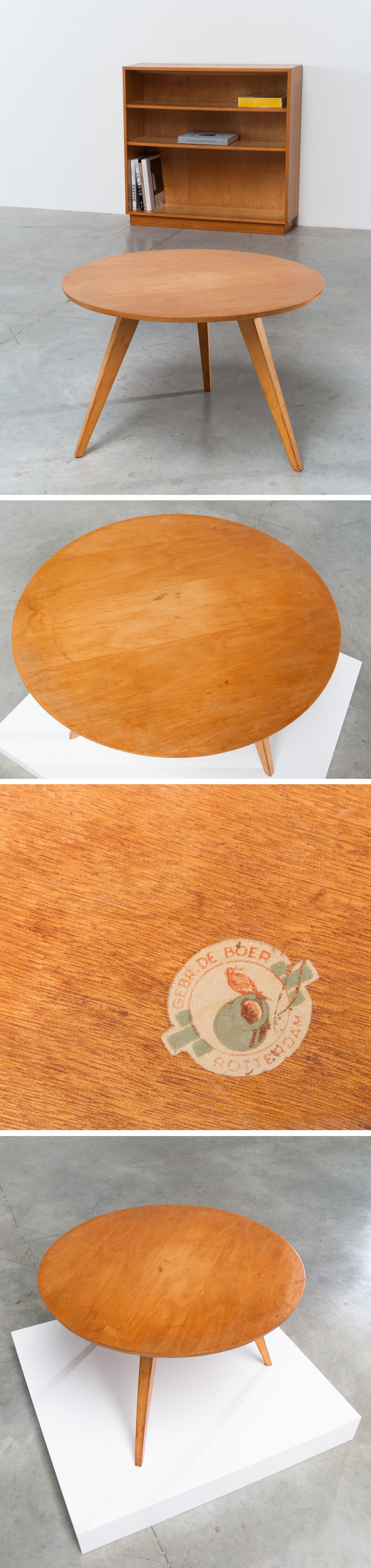 Wooden Coffee Table De Boer Rotterdam Large