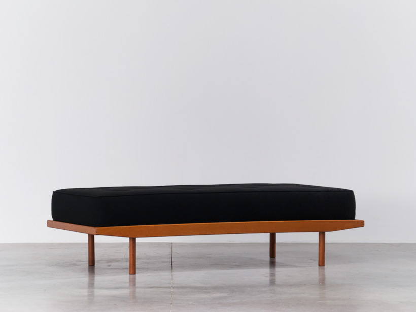 Wooden daybed large bench 1950