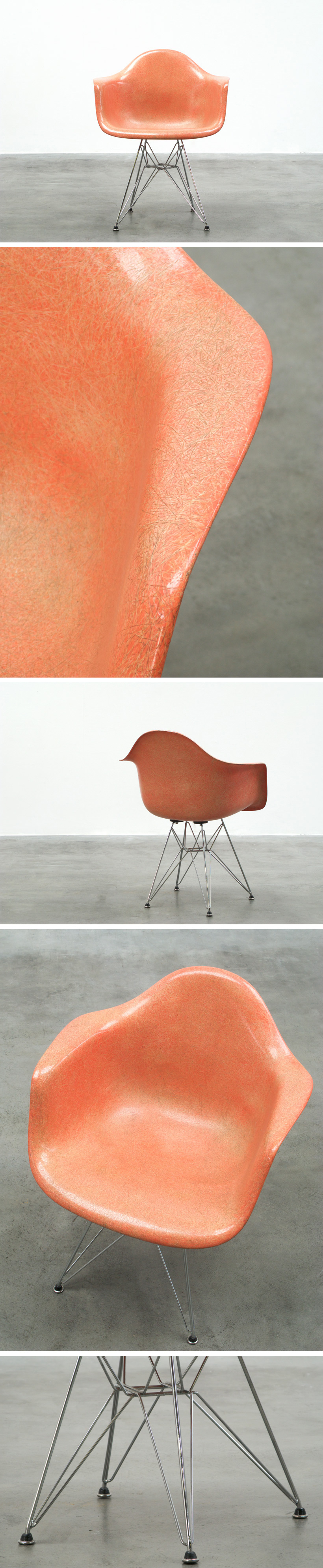 Zenith Charles Eames DAR fiberglass shell chair Large