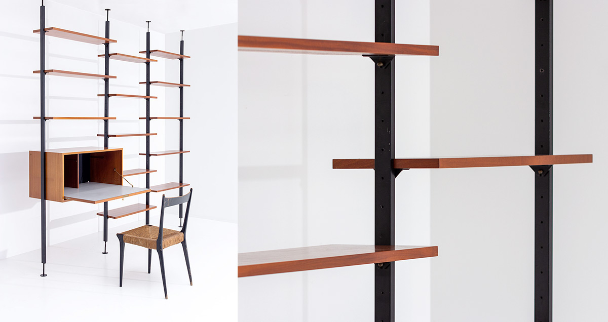 Modular wall unit or room divider designed by Jos De Mey for Van den Berghe-Pauvers, Ghent Belgium.